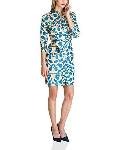 Almatrichi Vestido Gris / Azul