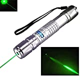 Tactical Hunting Rifle Scope Sight Laser Pen, Demo Remote Pen Pointer Projector Travel Outdoor Flashlight, LED Interactive Baton Funny Laser Toy (Blue) (Color: Blue)