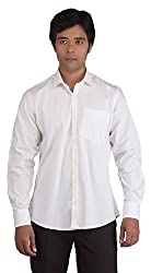 BearBerry Long Sleeve Casual White Shirt (Small)