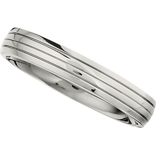 4.0mm Titanium Triple Grooved Domed Band Size 11