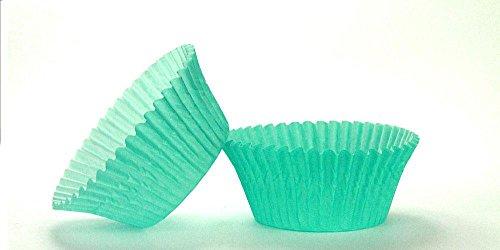 50pc Solid Teal Color Standard Size Cupcake Baking Cups Liners Wrappers (Solid Color Baking Cups compare prices)
