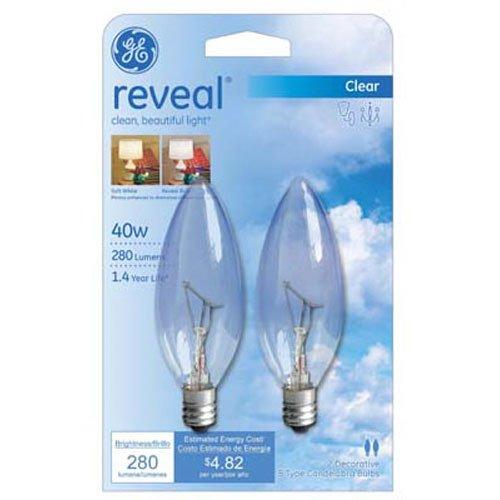 GE Lighting 48701 40-Watt Reveal Blunt Tip B10, 2-Pack (Type A Lamp compare prices)