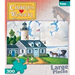 [Best price] Puzzles - 300 Piece Charles Wysocki The Lighthouse Keeper's Daughter Jigsaw Puzzle - toys-games