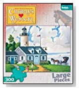 300 Piece Charles Wysocki The Lighthouse Keeper's Daughter Jigsaw Puzzle