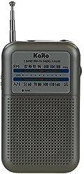 Kaito KA200S Pocket AM/FM Radio Gray
