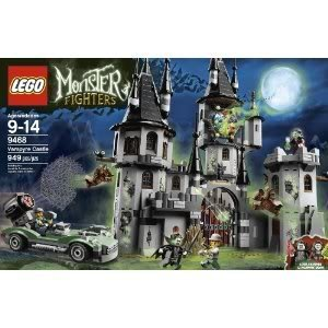 Toy / Game Nightmare Lego Monster Fighters 9468 Vampyre Castle - 4 Weapons, Hero Car With A Net Launcher