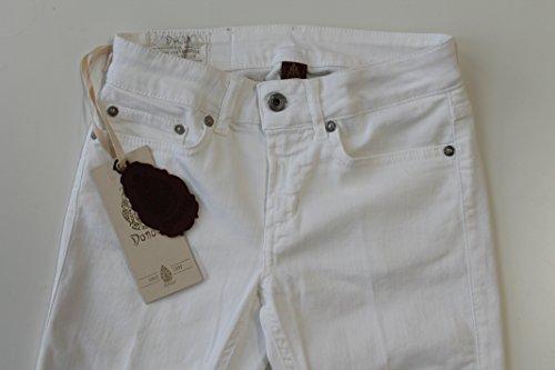 Dondup Pantalone Donna Monroe White (27, White)