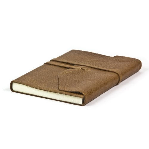Exclusive Leather Journal Hand Made In Italy, 9x7 inch (Light Brown)