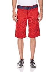 Celio Men's Cotton Shorts (3596653445468_BOFLORAL_32_Red)