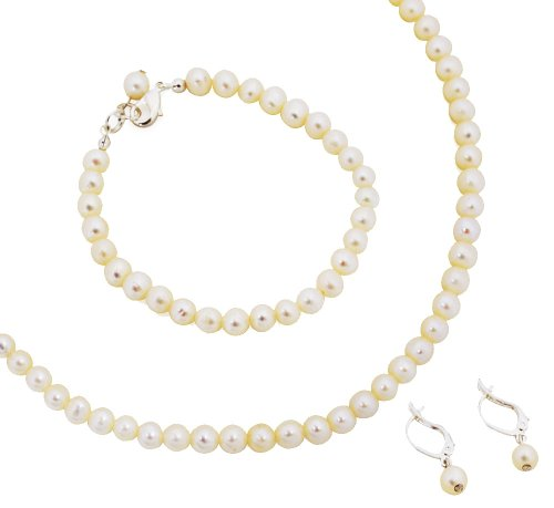 Cathy&#8217;s Concepts, Classic Freshwater Pearl Jewelry Set, 6mm