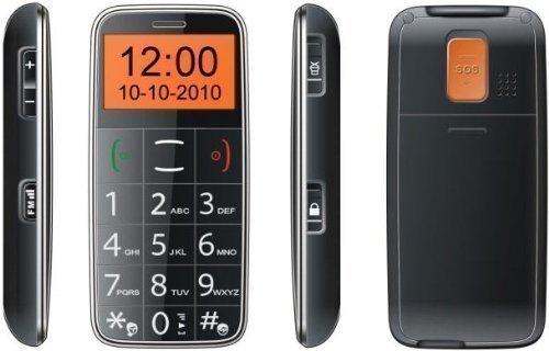 D68 Seniorenhandy Großtastenhandy SOS Notruf Komfort Großtasten Handy ohne Vertrag - SMS LED MP3 Anycool D68 Schwarz von Avcibase