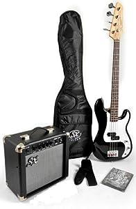 Ursa 1 JR RN PK BK Black Bass Guitar Package w/Amp Carry Bag and DVD from SX