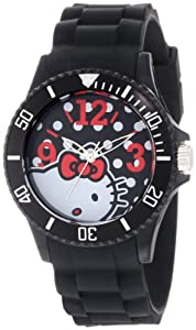 Hello Kitty Black Case Polka Dot Dial Watch