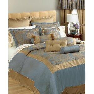 discount comforter sets canyon crest parisian 24 piece room in a bag cal king sky linensbargains. Black Bedroom Furniture Sets. Home Design Ideas