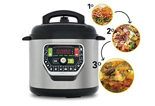 Robot de Cocina olla progamable GM Modelo G Electrica a Presion, 6 Litros, 19 Modos de Cocinar