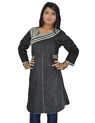 Sai Ruchi Women's Black Charcoal Kurti