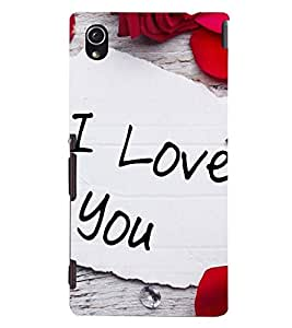 Printvisa I Love You With Rose Petals Back Case Cover for Sony Xperia M4 Aqua::Sony Xperia M4 Aqua Dual