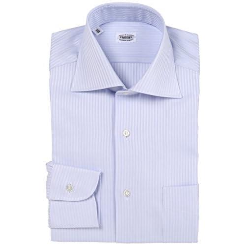 (フェアファクス)FAIRFAX ミニヘリンボーンセミワイドシャツ 2770 13 サックス 37