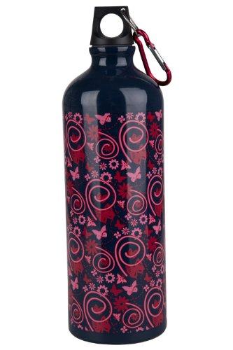 Mountain Warehouse 1L Matt Buzzy Bottle With Karabiner Navy One Size