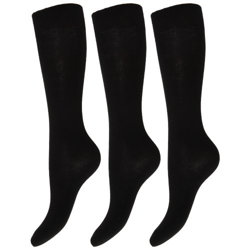 Kids/Children Unisex Knee High School Socks (Pack Of 3)