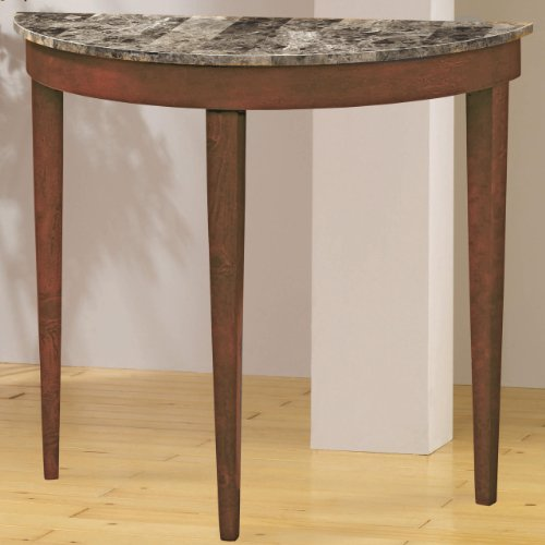 Cheap Entry Way Console Table with Faux Marble Top in light cherry Finish (VF_AZ00-47740×29884)