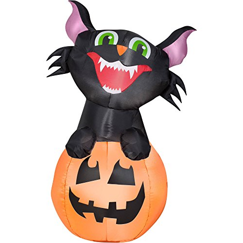 Airblown Inflatable Outdoor Friendly Halloween Characters - 3.5 ft Tall (Pumpkin Cat)
