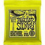 Ernie Ball P02221 Regular Slinky Nickel Wound Electric Guitar Strings, 10-46 (7 Pack)