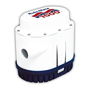 Rule RM1500 Marine Rule-Mate 1500 Marine Bilge Pump (1500-GPH, 12-Volt)