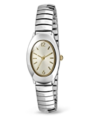 M&S Collection Oval Face Analogue Expandable Watch