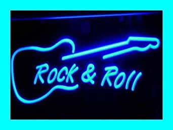 Adv Pro I303 B Rock And Roll Guitar Music New Neon Light