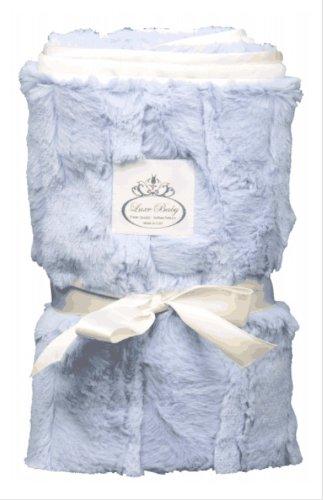 Luxe Baby Blanket, Blue - 1