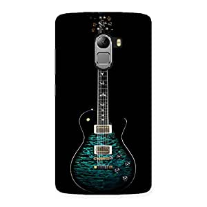 Cute Greenish Print Guitar Back Case Cover for Lenovo K4 Note