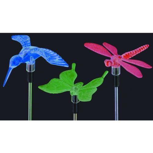 Outdoor Christmas Lights, 2 Solar Powered Decorative Christmas Path Led Light W Color Changing Hummingbird, Outdoor Christmas Displays Bring Animation To The Yard!!! Use Christmas Outdoor Decorations In Front Of The House For A Warm Feeling Of Holiday Mag