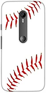 Snoogg Baseball Designer Protective Back Case Cover For Motorola G 3Rd Genera...