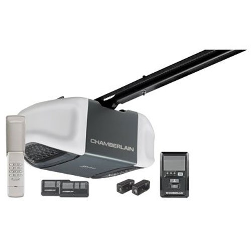 Chamberlain WD832KEV Garage Door Opener, ½ HP, Ultra-Quiet Belt Drive Operation, MyQ Smartphone Control Enabled (Internet Gateway Sold Separately), Includes 2-3 Button Remotes, Keyless Entry Keypad, Multi-Function Wall Control Panel