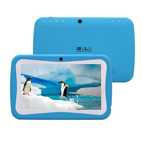 iRulu 7 inch Android 4.4 KitKat OS Tablet PC For Kids. RK3026 Cortex A8 CPU, Mali 400MP GPU, Dual Core, Dual Cameras, High resolution with 5 Point Capacitive Touch Screen. 8GB Storage. Give Children the Best gift in this Christmas!!Back to School School S
