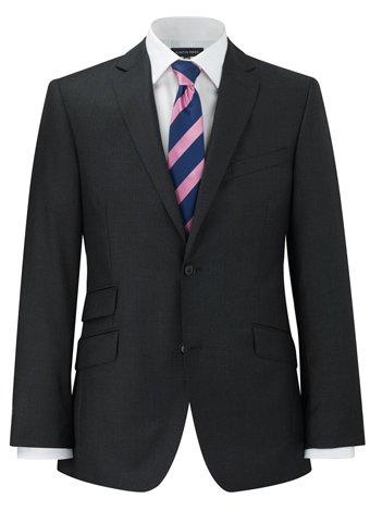 Austin Reed Contemporary Fit Grey Gaberdine Jacket REGULAR MENS 42