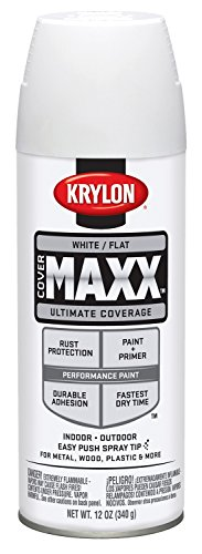 Krylon K09149000 COVERMAXX Spray Paint, Flat White (White Paint Outdoor Wood compare prices)