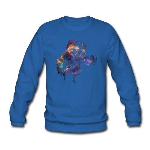 Spreadshirt, Supernova Astronaut Sternenhimmel Weltall 02, Men's Sweatshirt, royal blue, XL