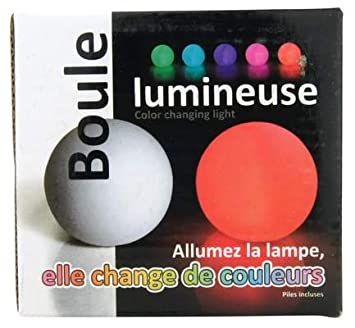 lampe veilleuse led change change de couleur design boule cuisine maison m280. Black Bedroom Furniture Sets. Home Design Ideas