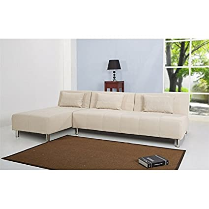 Gold Sparrow Atlanta Fabric Convertible Sofa in Beige