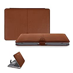 13 inch Macbook Pro CaseCrown Elite Folio Book Cover Case (Brown)