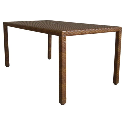 Panama Jack Outdoor St. Barths Rectangular Dining Table, 36 x 60-Inch (60 Inch Console Table compare prices)