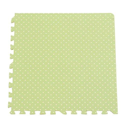 Bigood 10tlg. Spielmatte Kinderteppich Puzzlematte Spielteppich Schaumstoffmatte Herz Grün