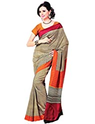 Saran's Dazzle In This Exclusive SENSOUS Bagalpuri RICH Printed Art Silk Designer Saree With Blouse Piece - B00Q1IF23K
