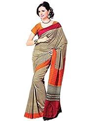 Saran's Dazzle In This Exclusive SENSOUS Bagalpuri RICH Printed Art Silk Designer Saree With Blouse Piece - B00Q1IF23K