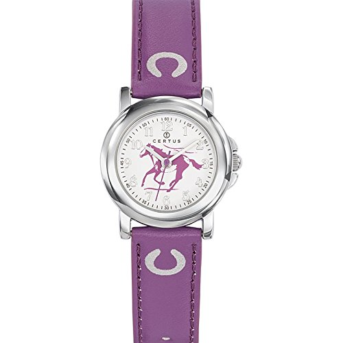 Certus - 647591 Synthetic Strap Unisex Watch - Analogue Quartz - White Dial - Purple