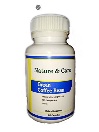 Nature & Care Green Coffee Bean Zero Preservatives 500mg 60 Capsules