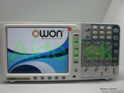 """Newest Low-Noise Owon 100Mhz Oscilloscope Sds7102 1G/S Large 8"""" Lcd W/ 3 Ys Warranty Vga+Lan"""