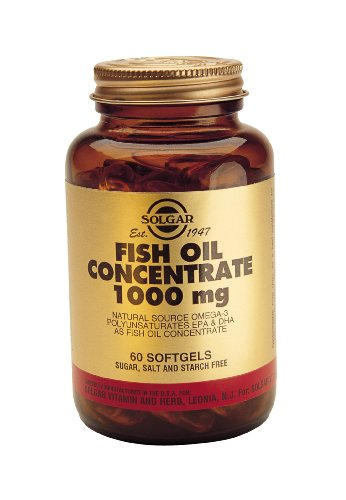 Solgar Fish Oil Concentrate 1000mg Softgels 60 Softgels